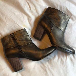 EUC Cole Haan metallic booties